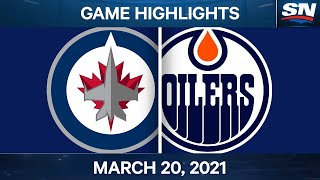 NHL Game Highlights   Jets vs. Oilers – Mar. 20, 2021
