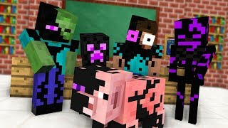 Monster School : BREWING ENDERMAN Challenge - Minecraft Animation