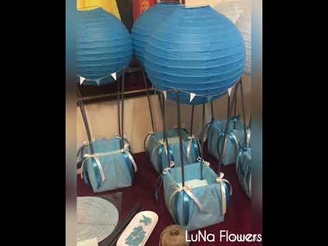 How to make hot air balloon / sky ball centerpieces!