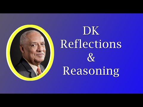 DK- Reflections and Reasoning - October 25, 2020