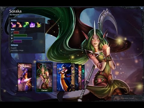 Dryad Soraka Skin Spotlight Gameplay 1080p HD League Of Legends