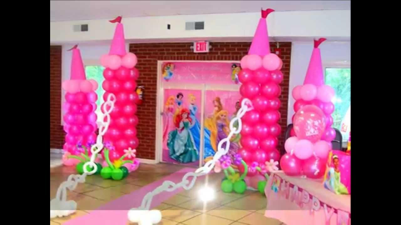 Princess Balloon Decoration Balloon Princess Party Youtube