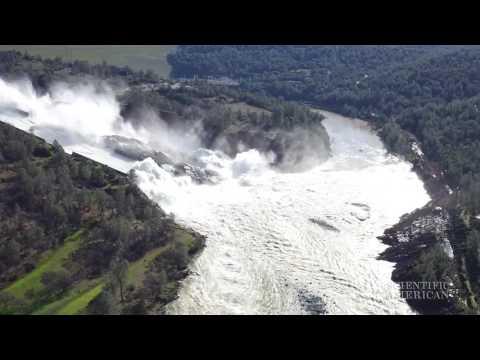 Giant Model Mimics Damaged Dam Spillway
