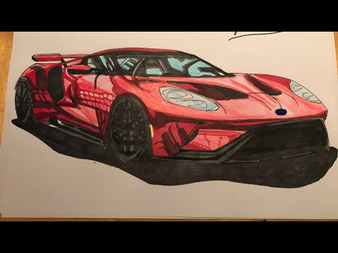 Drawing A  Ford Gt
