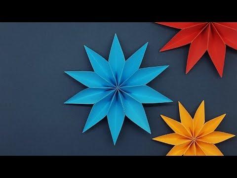3D Paper Star Flower For Decoration Ideas | DIY Paper Craft Videos & Tutorials - Wall Hanging