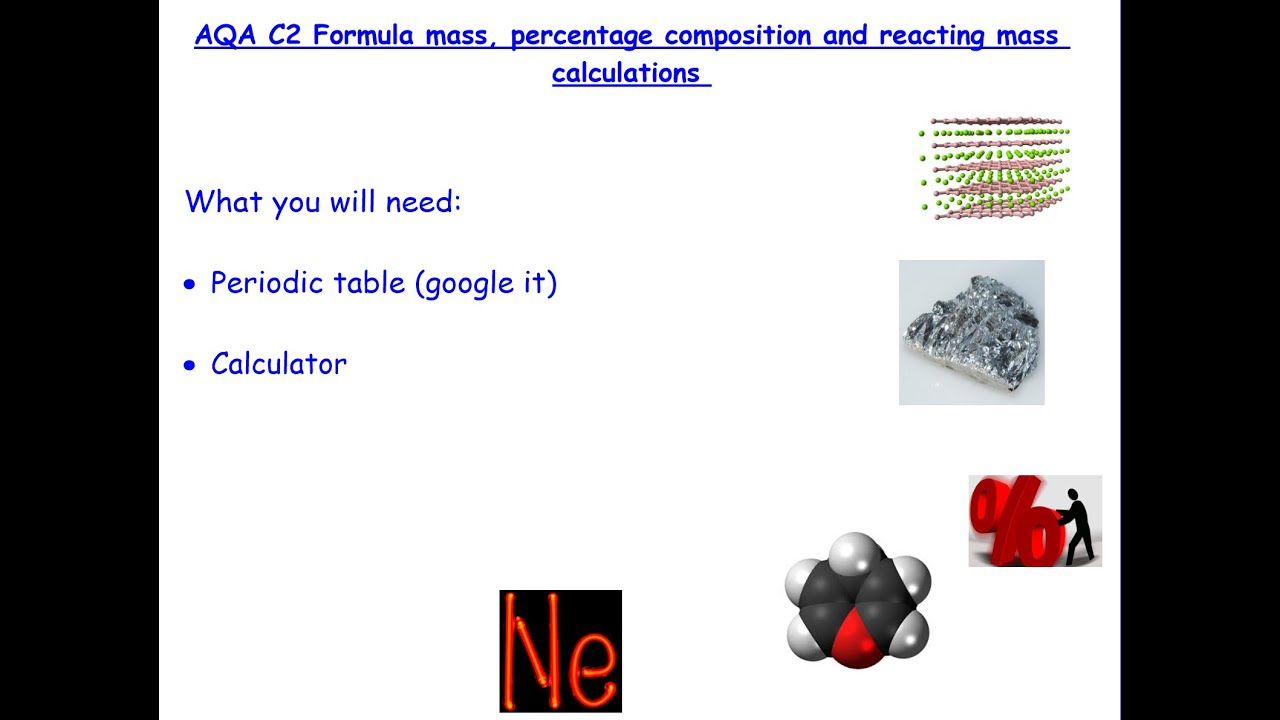 Gcse aqa chemistry reacting masses formula mass and percentage gcse aqa chemistry reacting masses formula mass and percentage composition inc exam qs urtaz Gallery