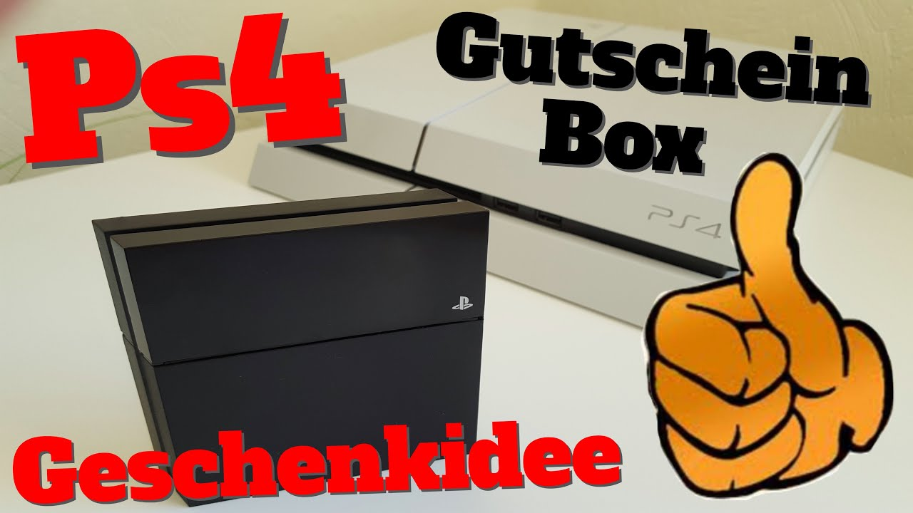ps4 gutscheinbox geschenk f r gamer card holder. Black Bedroom Furniture Sets. Home Design Ideas