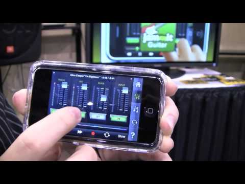 jammit iPhone application, play along with music tracks, CES 2010, Vegas