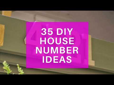 35 DIY House Number Sign Ideas - Make Your Own House Numbers