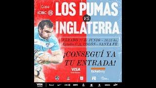 Formación de Los Pumas vs Inglaterra en Santa Fe