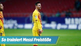 Auf den Spuren Diego Maradonas: So trainiert Messi seine Freistöße