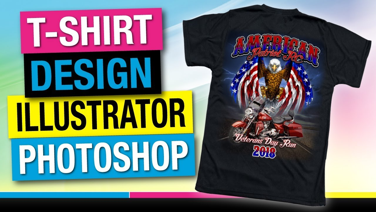 735c6ecb8 How to Design Your Own T-Shirt - Veterans Motorcycle Ride America. Mikey  Designs & Silk Screen