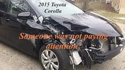 2015 Toyota Corolla light front collision over the bumper time lapse repair