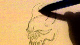 Draw Demon Skull Tattoo Part 1