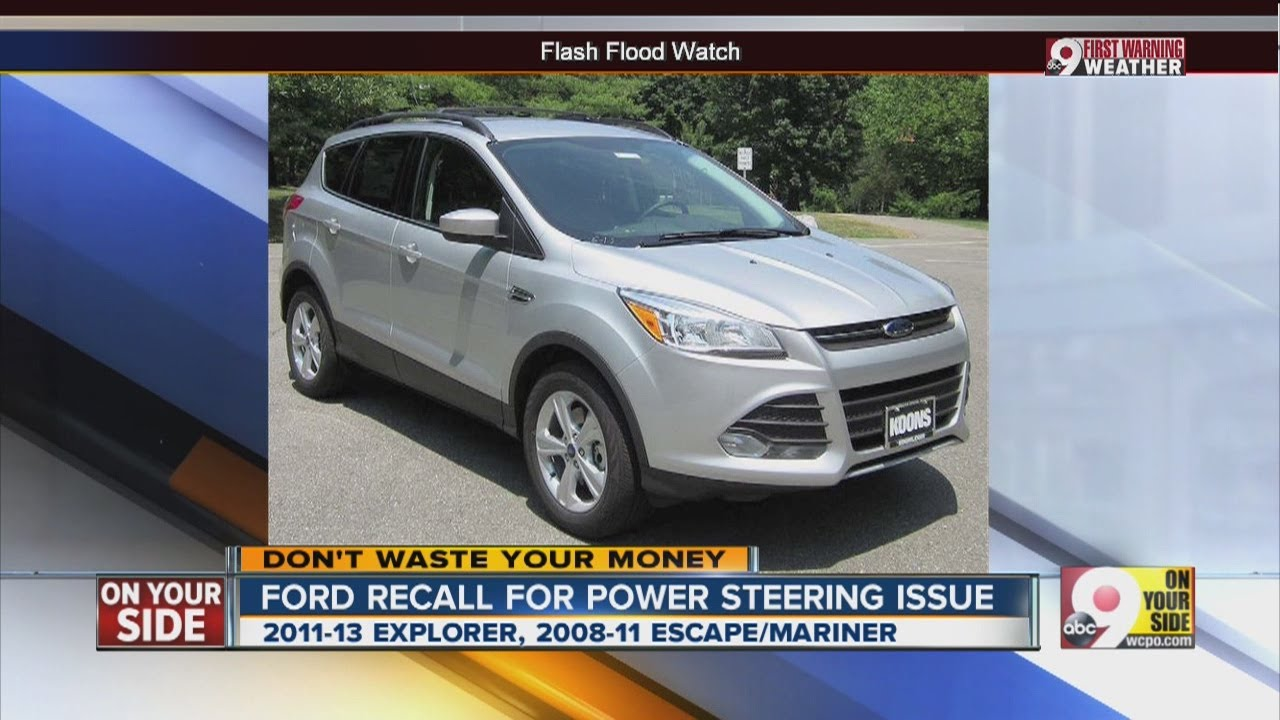 Ford Recall For Power Steering Issue Youtube 2011 Edge Fuse Box Location