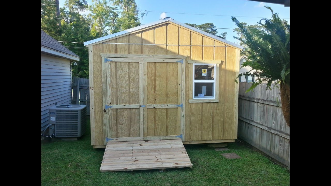 12x12 Pump/Storage Shed - Shed Plans - Stout Sheds LLC - YouTube