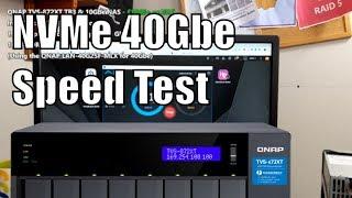 QNAP TVS 872XT NVMe SSD 40Gbe NIC Speed Test