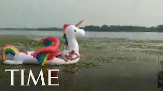 Minnesota Cops Saved These Women Stranded On A Unicorn Float | TIME
