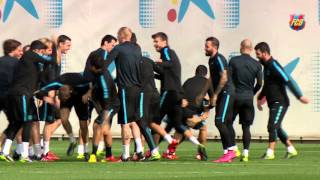 FC Barcelona training session: wrap up training ahead of BATE Borisov visit