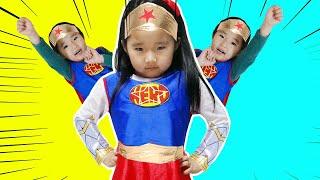 슈퍼히어로 변신해서 도와주기 놀이 Suji pretend play Rescue Mission and Superhero