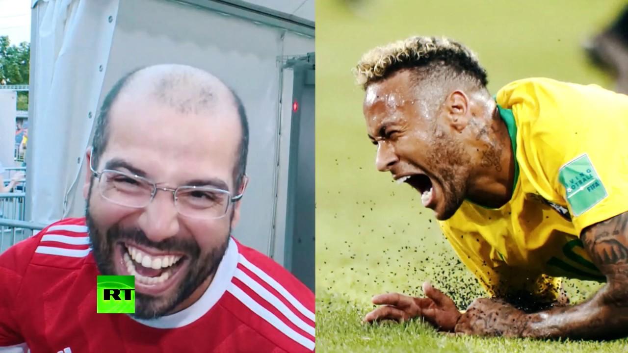 Делай как Неймар: RT попросил болельщиков изобразить выражения лица капитана сборной Бразилии