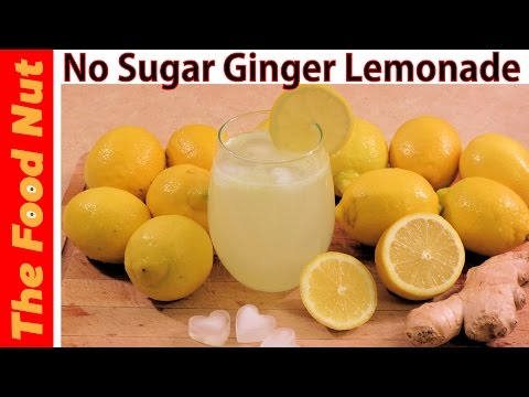 Homemade Ginger Lemonade Recipe With Fresh Lemon Juice - How To Make Sugar Free Drink | The Food Nut