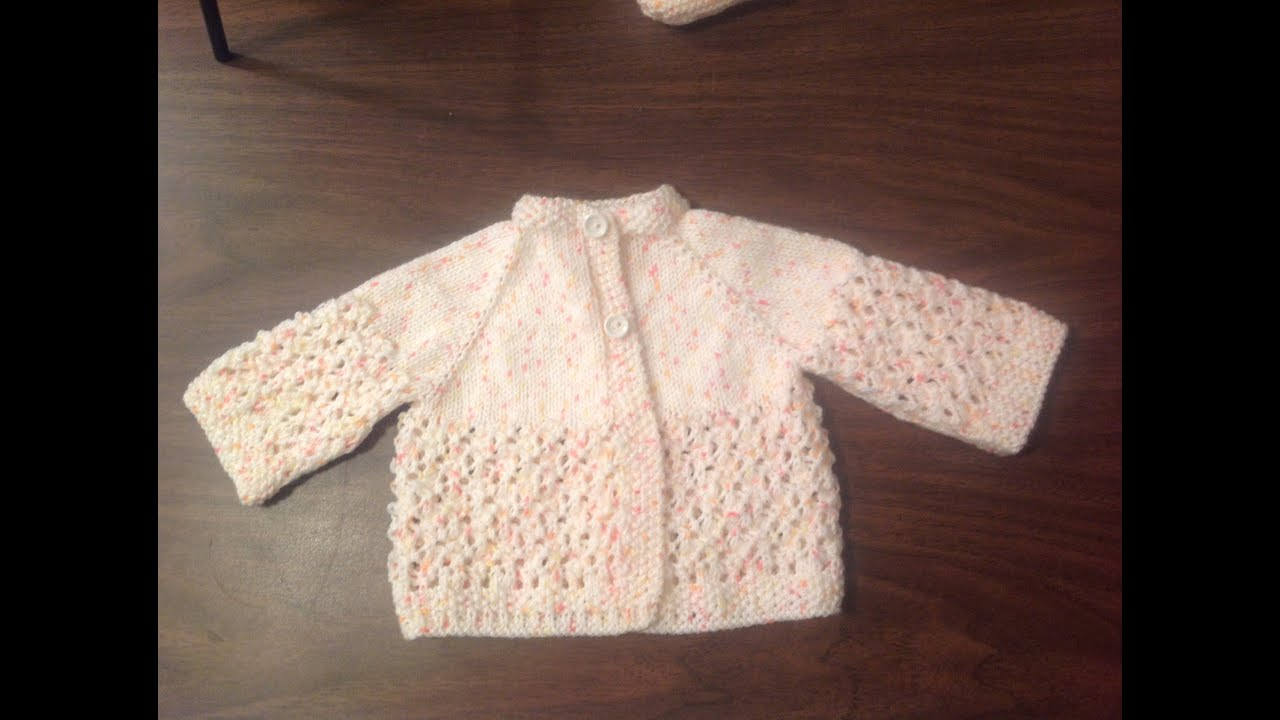 656cb96fe Lacey Baby Raglan Jacket how to by Stitch Niche - YouTube