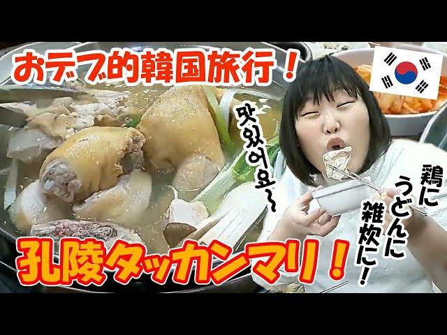 【韓国旅行】おデブが韓国料理タッカンマリをただ食べる!