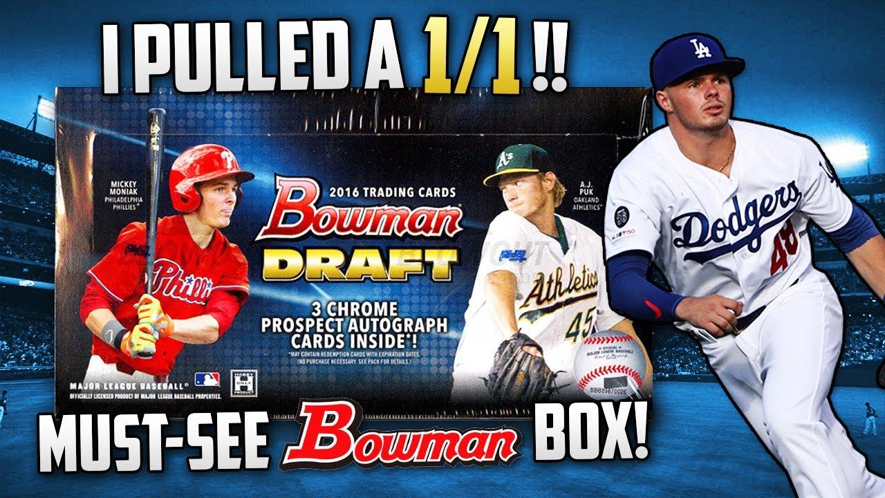CRAZY BOX! 💰💰 2016 Bowman Draft