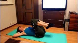 Копия видео Упражнения на мышцы пресса(Упражнения на пресс: - Лягушка - Велосипед - Вытягивание прямых ног Другие упражнения смотрите на сайте..., 2013-10-29T19:58:12.000Z)
