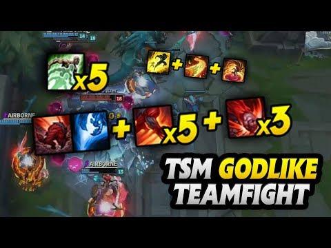 TSM GODLIKE TEAMFIGHTING Breakdown | Worlds 2017 Group Stage