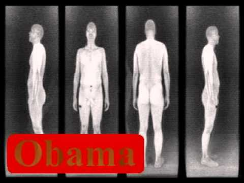 Barack Obama faces Body Scanner technology (you are next in line)