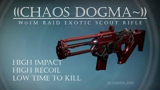 Destiny - Chaos Dogma Adept - Wrath Raid Exotic Scout - PVP Gameplay Review
