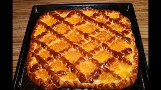 Сладкий пирог с вареньем!  Домашняя выпечка! Рецепт дрожжевого тесто.