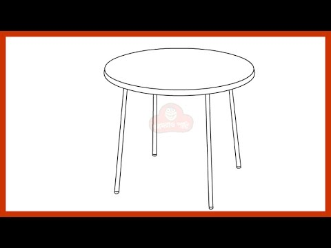 How To Draw A Table Step By