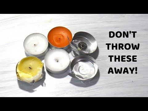 Empty Tea Light Candle Crafts | DIY Aluminium Tin Cups Craft Ideas | Recycle Old Tealights