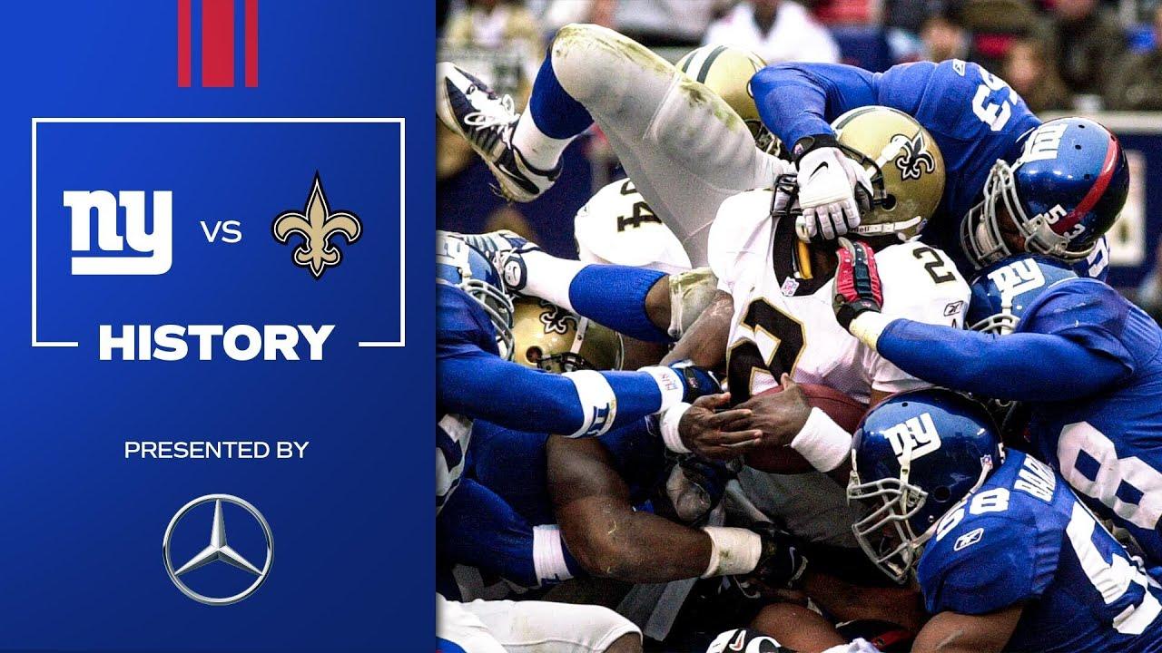 2021 Schedule Preview: Giants vs. Saints History | New York Giants