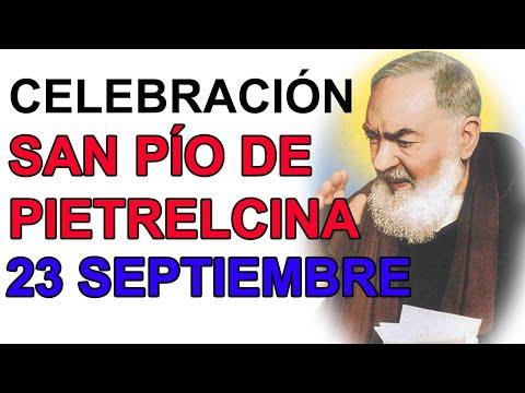 CELEBRACIÓN A SAN PIO DE PIETRELCINA ORACION MILAGROSA AL PADRE PÍO 23 SEPTIEMBRE from YouTube · Duration:  1 hour 18 minutes 29 seconds
