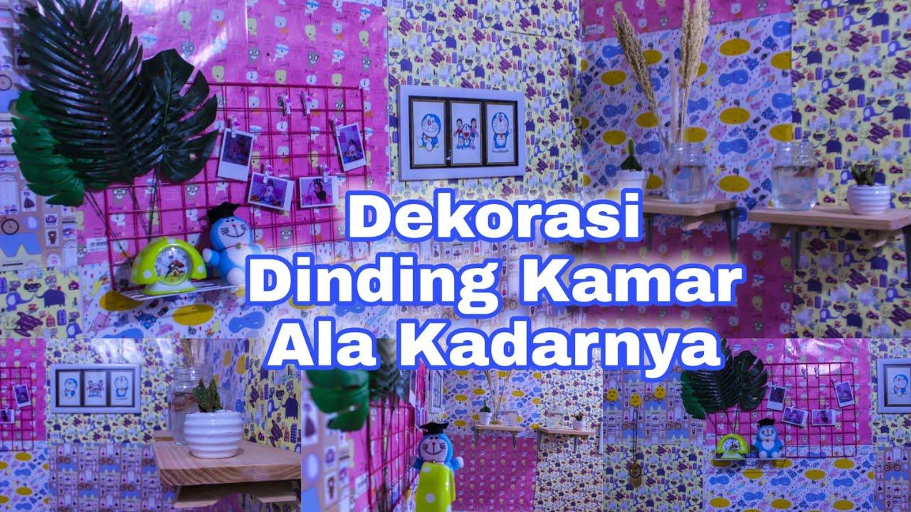 Dekorasi Hias Dinding Kamar Low Budget Ala Kadarnya Jadi Makin Lucu Part 2 Roomtour Youtube Dekorasi kamar dari kertas kado