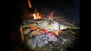 Câu Cá Chép Sông 2Kg Nướng Ăn Luôn - Trứng Bọc Bùn || TVN Lai Châu