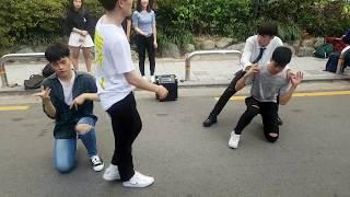 Уличные танцы в Сеуле