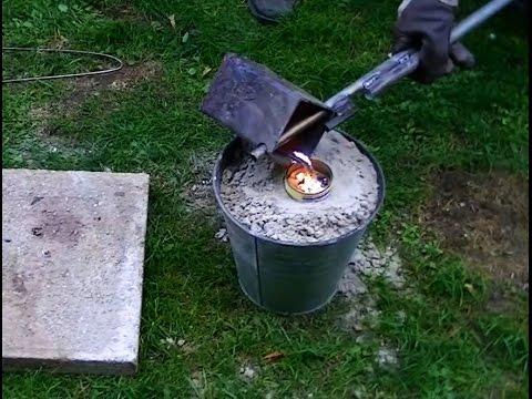 Aluminium-Zwille gießen | Steinschleuder | Schusstest | verlorene Form