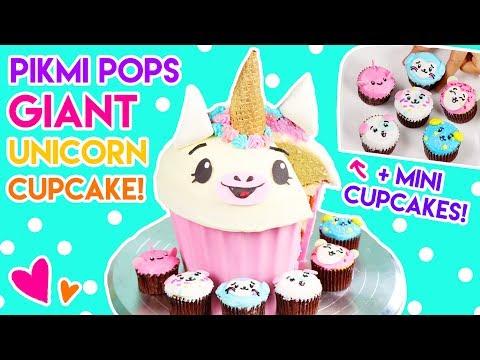 How to Make a GIANT Unicorn Pikmi Pops Cupcake!
