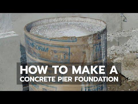 How to Build a Cabin - Concrete Pier Foundation