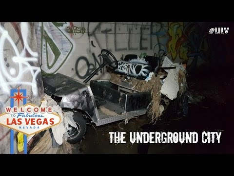Exploring Las Vegas Underground City....