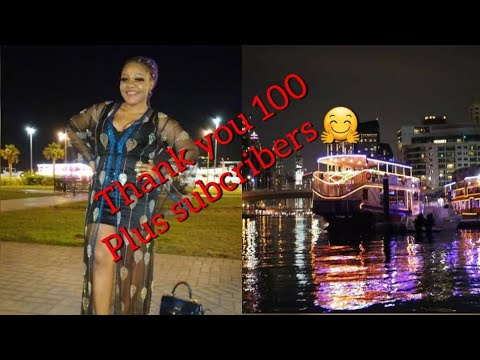Dhow Cruise Dubai Creek 2020💃/Thank you 100 plus subscribers🙏,your Girl is Loyal✌/Cameroon YouTuber