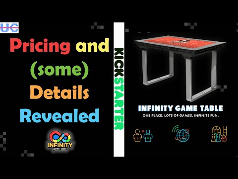 Arcade1up Infinity Game Table Reveal! Kickstarter is Live with Early Bird Pricing. Online Play! DLC! from Unqualified Critics