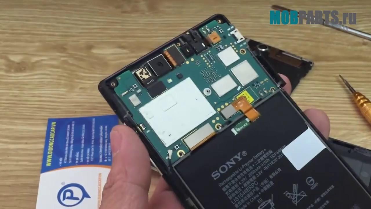 Sony Xperia Z2 D6503 как разобрать, ремонт, замена дисплея и .