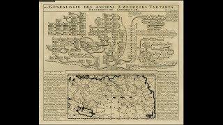 Карта Генеалогия Императоров Тартарии от Чингизхана.