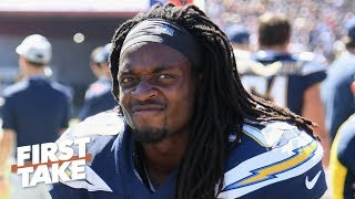 Melvin Gordon isn't an elite RB and shouldn't risk sitting out - Will Cain | First Take